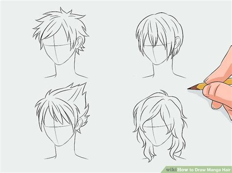 how to draw manga how to draw manga hair 7 steps with pictures wikihow