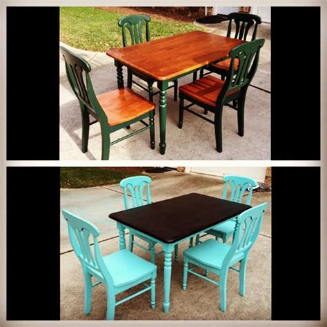Diy Paint Dining Room Table Diy Refurbished Dining Room Table Used Valspar Quot Nautical Quot Spray Paint Home Pinterest