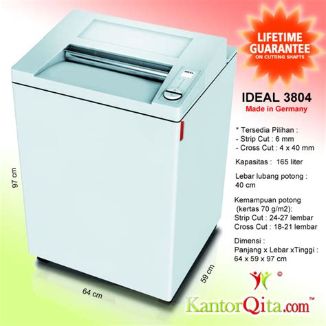 Mesin Penghancur Kertas Cross Cut Shredder Tpr210 mesin penghancur kertas paper shredder ideal 3804 cc