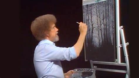 bob ross painting on black gesso bob ross golden rays of season 28 episode 4