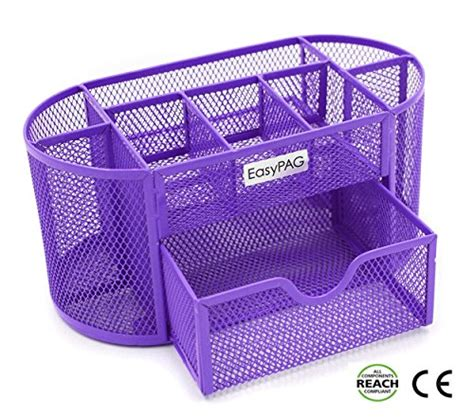 Purple Desk L With Organizer by New Desk Organizer 9 Components Mesh Office Desktop