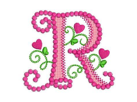 cute alphabet pattern cute letter r alphabet for lil princess hearts applique