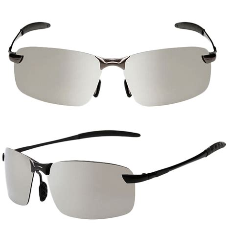 Light Tint Retro Unisex Mens Womens Square Frameless Cool