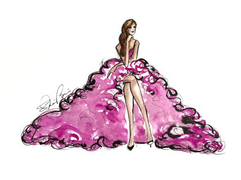 watercolor dress tutorial the hot pink frilly dress watercolor fashion illustration