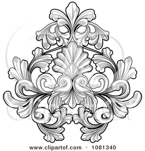 small black and white tattoo designs royalty free clipart illustration black flower invitation