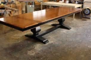 custom wood dining room tables crafted custom mahogany wood trestle dining table