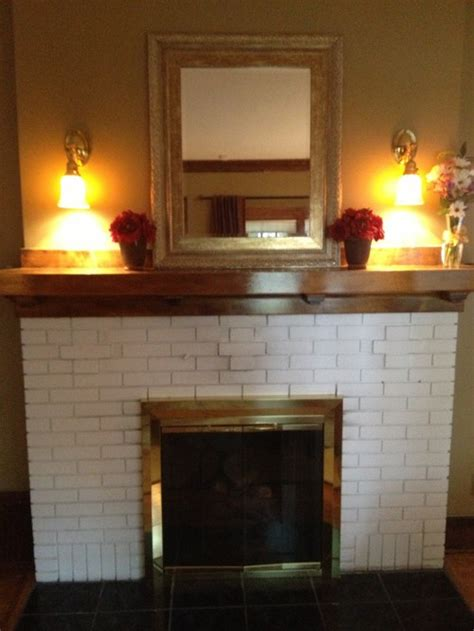 Refurbish Brick Fireplace by Restore Or Not Removing Paint From Fireplace Brick