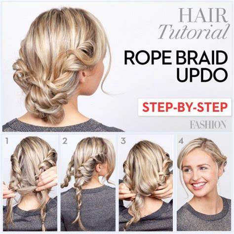 holiday braided updo tutorial medium hairstyle for long hair rope braid tutorial learn how to do this twisted updo in
