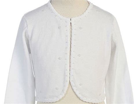 Gamis Cotton Bolero beaded knit cotton bolero shrug sweater white