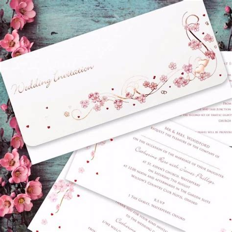 Paper Themes Wedding Invitations by Cherry Blossom Wedding Invitation Paper Themes Wedding