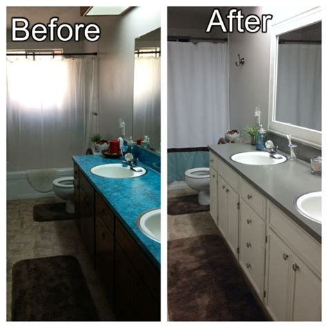 paint bathroom countertop before and after minor upgrades to our bathroom added