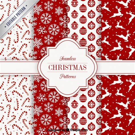 christmas patterns early years collection of red christmas patterns vector free download