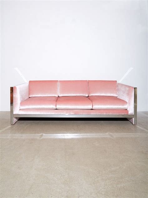 pink sofa furniture best 25 milo baughman ideas on pinterest chair design