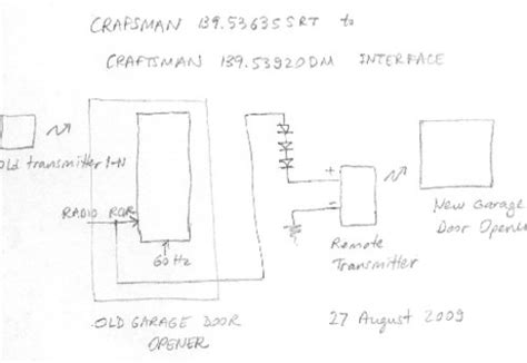 craftsman garage door sensor wiring diagram wiring