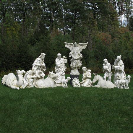 ivory nativity set home pinterest outdoor scene and