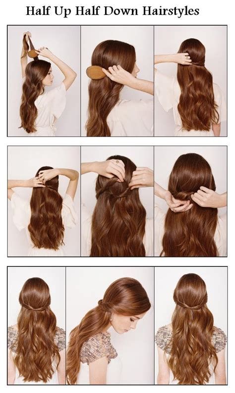 hairstyles half up half down how to new short hair styles make a half up half down for your hair
