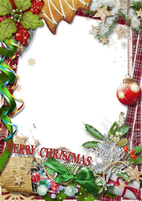 merry christmas png photo frame with green bow любимое