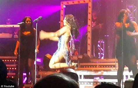 Loses Shirt While Performing Live by Toni Braxton Wardrobe Malfunction Skimpy Dress Slides