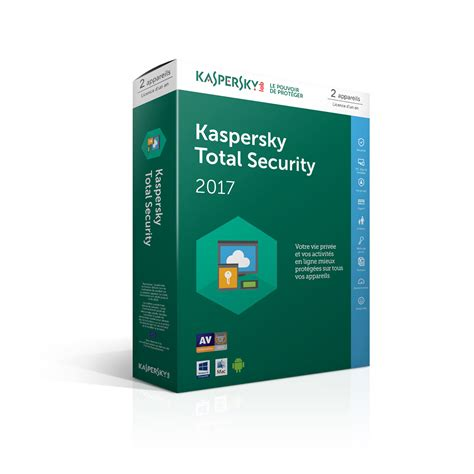 Kaspersky Security 2018 3 User Compatible For Mac kaspersky total security 2017 licence 2 postes 1 an logiciel s 233 curit 233 kaspersky sur ldlc