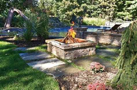 firepit landscaping outdoor pit design ideas landscaping network