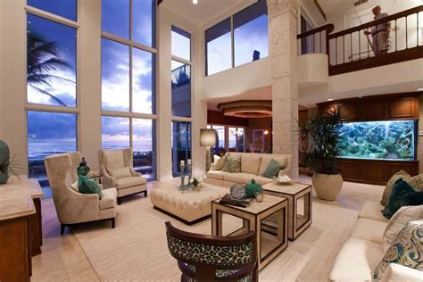 Two Story Living Room by 47 Beautiful Living Rooms With Ottoman Coffee Tables