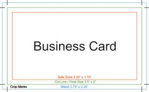 calling card business setup proper setup for printing with crops and bleeds