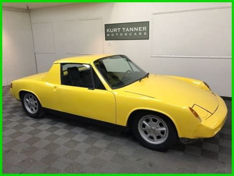 porsche 914 yellow 1975 porsche 914 2 0 yellow with black trim 5 speed