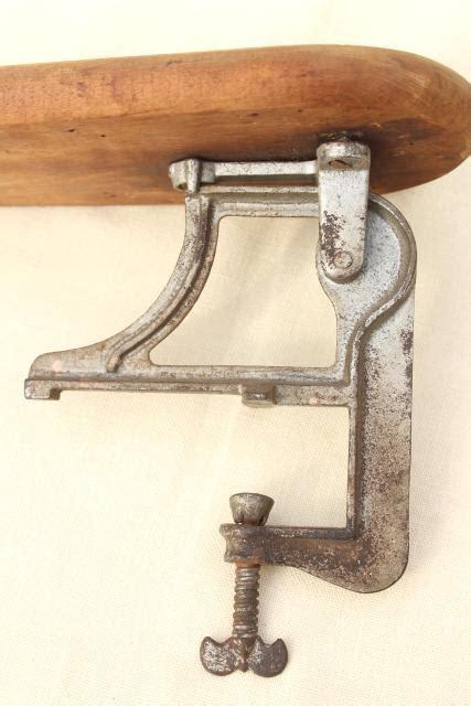 antique ironing board hardware fold  drop leaf