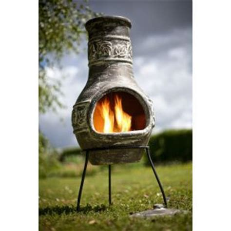 tabletop chiminea tabletop clay and green on