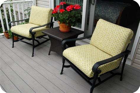 How To Recover Patio Cushions by Recover Existing Outdoor Cushions Diy