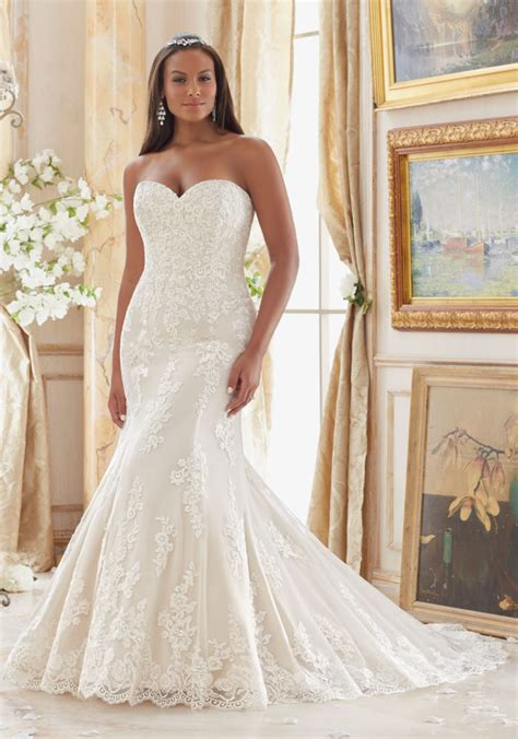 Wedding Dress Size by Lace Appliques On Tulle Plus Size Wedding Dress Style