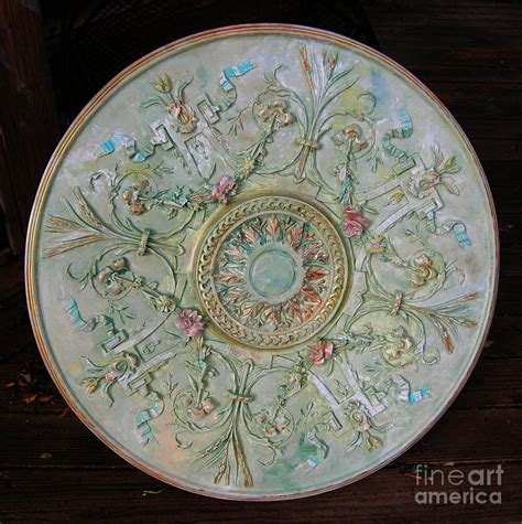 painting a ceiling medallion painted entry ceiling medallion painting by lizi beard ward