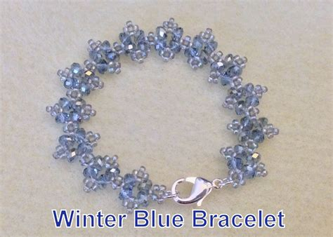 bead patterns for beginners tutorial winter blue beaded bracelet beginner