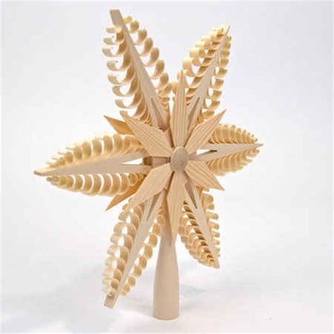 spanbaum wooden tree topper plain star christmas