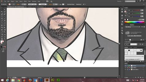 tutorial website illustrator how to create digital art and marker style portrait with