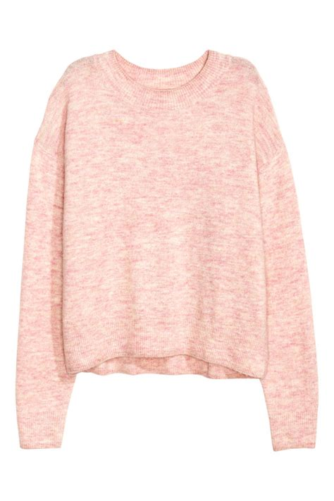 Hm Sweater Invert Fit Xl oversized sweater light pink melange sale h m us