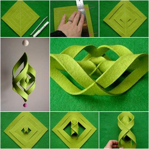 Felt Paper Craft - how to diy 3d felt ogee wind chime fab diy