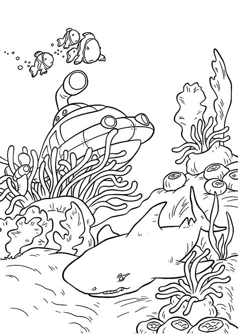 printable coloring pages underwater realistic underwater coloring pages color bros