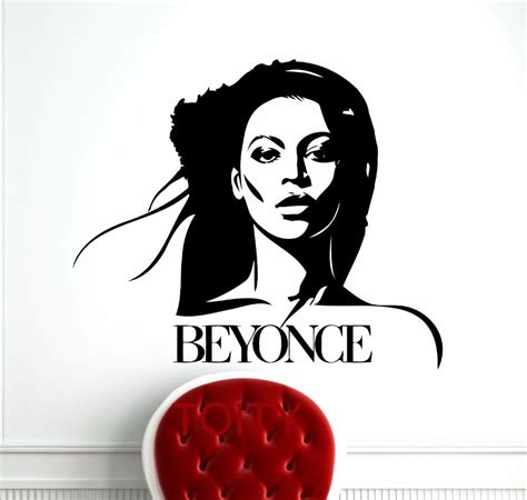 Wall Stencils Stickers aliexpress com buy beyonce wall sticker celebrity pop