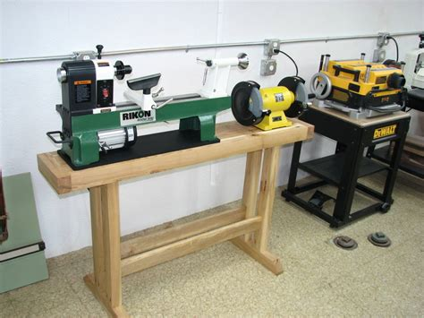 wood lathe bench lathe stand by garys lumberjocks com woodworking