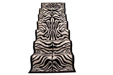 tappeto zebra tappeto passatoia zebra lavabile grigio chiaro nero l 295