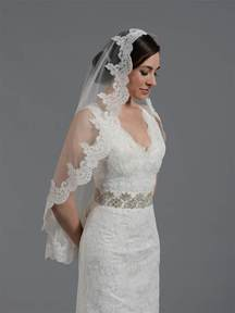 bridal mantilla veil elbow fingertip chapel v032n ivory white