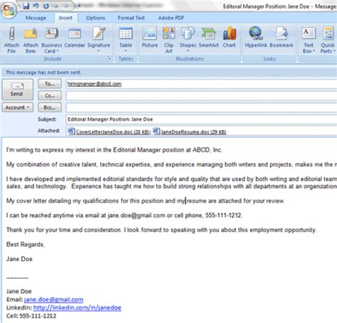 how to email a cv and cover letter how to apply for via email