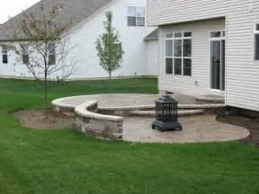 Graceful raised stamped concrete patio 36367 home design ideas