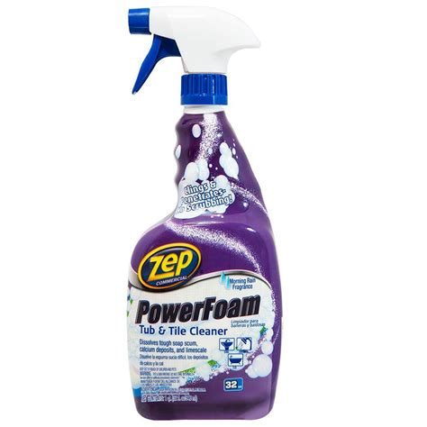 bathtub cleaner zep 32 oz power foam tub and tile cleaner case of 12