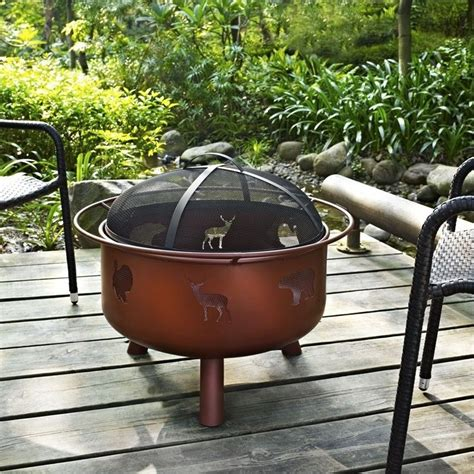 outdoor wood pits wood burning bronze outdoor pit wad792sp