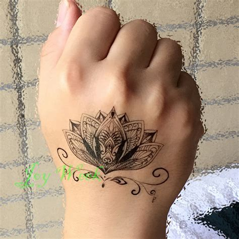 Tato Tatto Temporary Tatto Kecil Tatto Sayap 10 5x6 Cm X 460 lotus flower temporary
