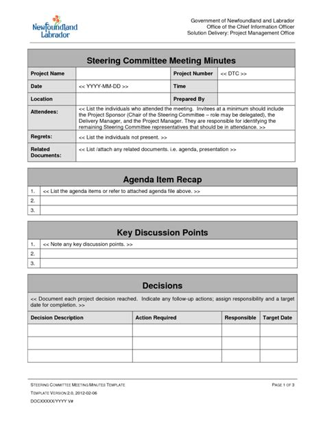 meeting agenda template doc best agenda templates