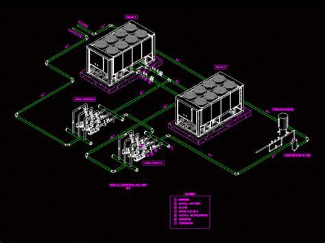 equipment installation scheme chiller  dwg detail
