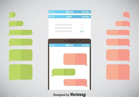whatsapp layout vector imessage template vector download free vector art stock